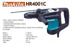 MAKITA HR4001C kombinované kladivo
