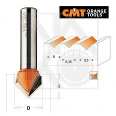 CMT C91509511 fréza na V-drážku D9,5 S8