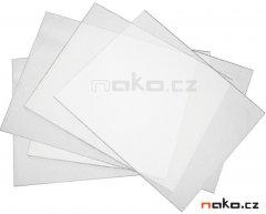 EXTOL PREMIUM 8898027A ochranná fólie pro svářecí kuklu, 111,2 x 91mm, 5ks