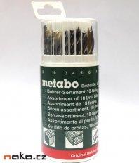 METABO sada vrtáků na dřevo, kov, cihly - 18 dílů 627190