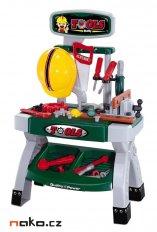 EDDY TOYS dětský plastový pracovní stůl s nářadím TOOLS 53902