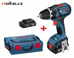 BOSCH GSR 18 V-LI Professional aku vrtačka 2x1,5Ah, Li-Ion, L-Boxx,...
