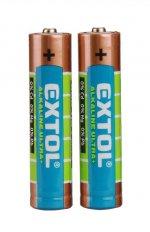 Baterie alkalické 1,5V AAA (LR03) EXTOL ENERGY ULTRA +, 2ks