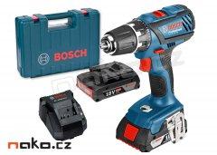 BOSCH GSR 18-2-LI Plus Professional aku vrtačka 2x2Ah Li-Ion v kufr...