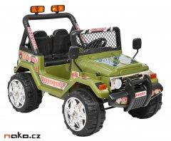 HECHT 56182 dětské aku autíčko OFFROAD zelené 2x 6V, 7Ah, 2x 25W