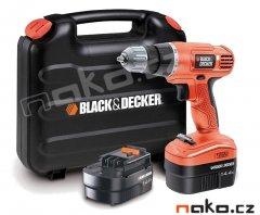 BLACK&DECKER EPC14CABK aku vrtačka 14,4V, 2 baterie