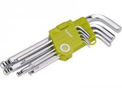 EXTOL CRAFT L-klíče imbus, sada 9ks, 1,5-2-2,5-3-4-5-6-8-10mm 66001
