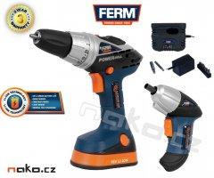 FERM aku set 2v1 vrtačka FDCD-1800N +šroubovák FDCS-360LK (CDM1106)