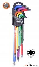 NEO TOOLS 09-518 sada klíčů TORX T10-T50, barevné 9ks