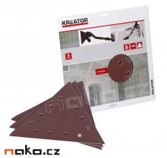 KREATOR KRT232506 trojúhelníkový brusný papír 3x285mm 5ks G100