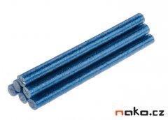 TOPEX 42E185 lepící tavné tyčinky 7mm modré třpytky 6ks