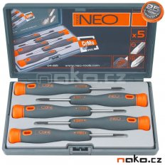 NEO TOOLS sada mikro šroubováků - 5ks 04-225