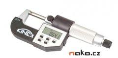 KINEX mikrometr třmenový digitální 0-25mm, 0,001mm, 7030
