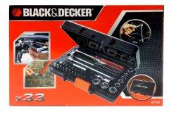 """BLACK&DECKER A7142 sada hlavic 1/4"""" 33 dílů"""