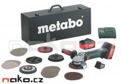 Metabo W 18 LTX 125 aku úhlová bruska INOX set