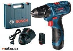 BOSCH GSR 120-Li Professional aku šroubovák 12V LiIon 2x1,5Ah 06019F7001