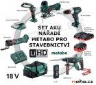 METABO Profi Combo set aku nářadí stavebnictví 18V LiHD 2x5,5 a 1x3,1Ah 690913