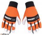 HECHT 900107 rukavice pro práci s motorovou pilou vel. M
