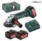 Metabo W 18 LTX 125 Quick aku úhlová bruska 3x4Ah Metalock 602174960