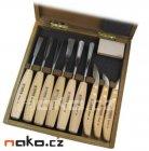 NAREX sada řezbářských dlát v dřevěné kazetě 8948 13