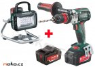 METABO BS 18 LTX BL Quick aku vrtačka 18V/2x4,0Ah + svítilna BSA 14,4-18 LED PowerPartner