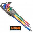 NEO TOOLS sada imbus klíčů 1,5-10 9 dílů barevná 09-512