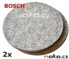 BOSCH leštící plst - filc 160mm na suchý zip 2ks 3608604001