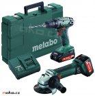 METABO Combo set 18V BS 18+W 18 LTX 125 Quick aku vrtačka+bruska, Li-Ion 2Ah+4Ah 685082
