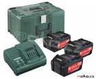 METABO Basic-Set 5.2Ah (3x akumulátor 18V/5.2Ah + nabíječka ASC30-36+MetaLock III) 685048
