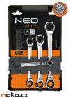 NEO TOOLS sada ráčnových klíčů oboustranných 8-19mm 09-070