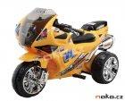 HECHT 52132 dětská aku motorka tříkolka žlutá 6V, 4,5Ah, 18W