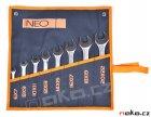 NEO TOOLS sada otevřených klíčů 6-22mm, 8ks, 09-851