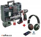 METABO PowerMaxx BS Quick Pro mobilní dílna 10,8V 4Ah+2Ah Li-Ion 60015788 + sluchátka