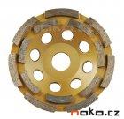 EXTOL PREMIUM 8803122 kotouč diamantový brusný dvouřadý 125mm