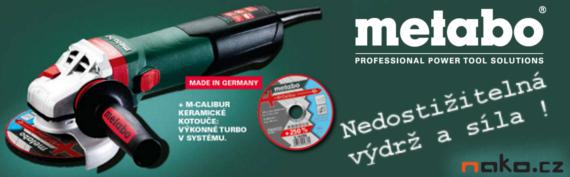 Nové úhlové brusky METABO - novinka roku 2014