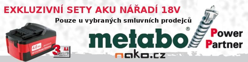 Sady aku               nářadí METABO 18V 4Ah